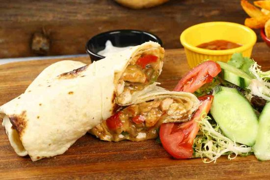 Buffalo Ranch Chicken Grilled Wrap
