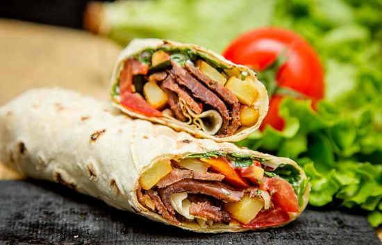 Ham Cheese Sandwich Grilled Wrap